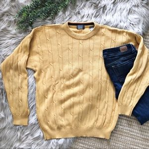Vintage Oversized Baggy Yellow Dad Sweater SZ XL